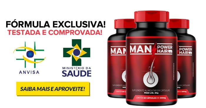 Remédio para Calvície Masculina Natural Man Power Hair 1